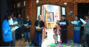 pembacaan munajat maiyah yang dipimpin Mas jion